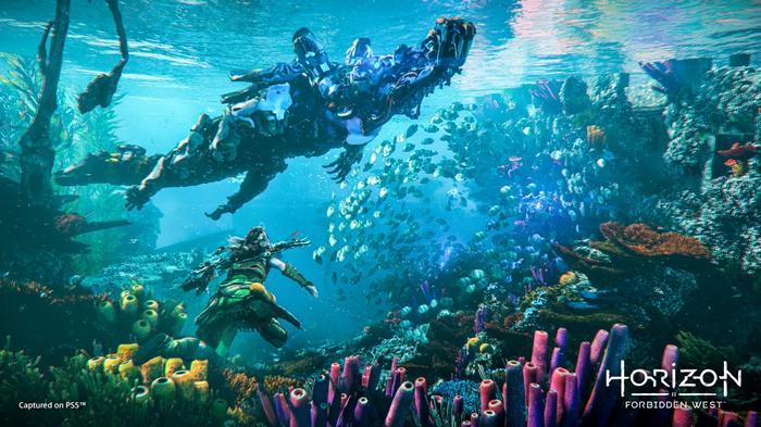Horizon Forbidden West Underwater Rendering PS5 vs PS4