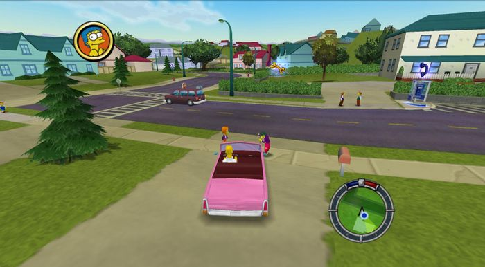 The Simpsons Hit and Run PS2 Homer Simpson in car