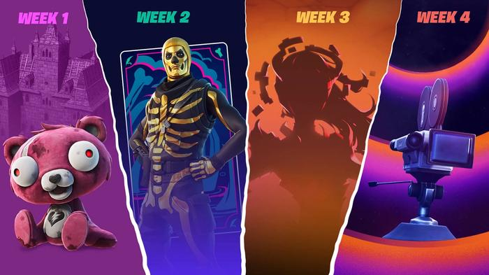 A photo showing weekly surprises from Fortnite