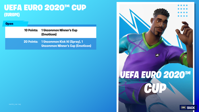 fortnite euro cup day one prizes