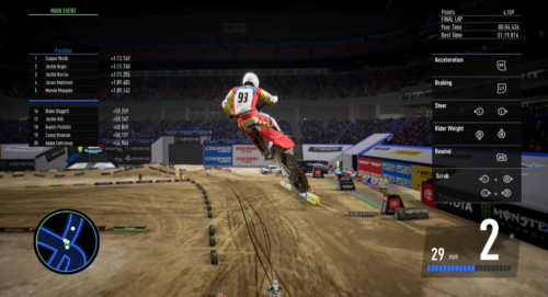 The introduction race in Monster Energy Supercross 3