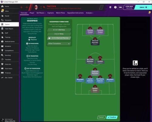 AC Milan FM20 Tactics