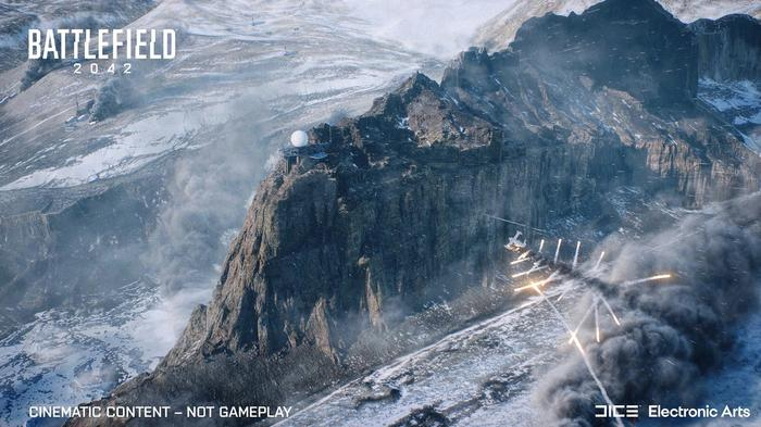 Battlefield 2042 map Breakaway mountains plane bombing