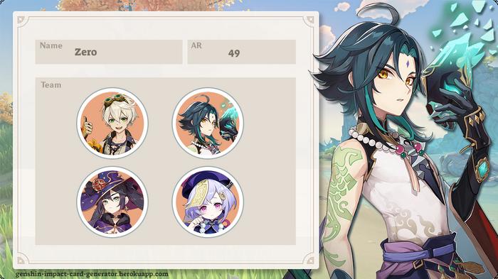 Zero's character card