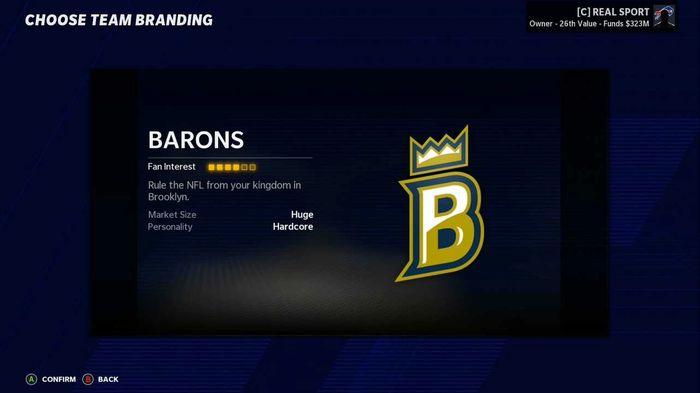 Madden 21 brooklyn barons 1