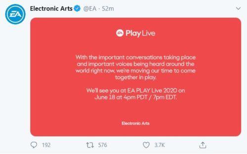 EA PLay delayed