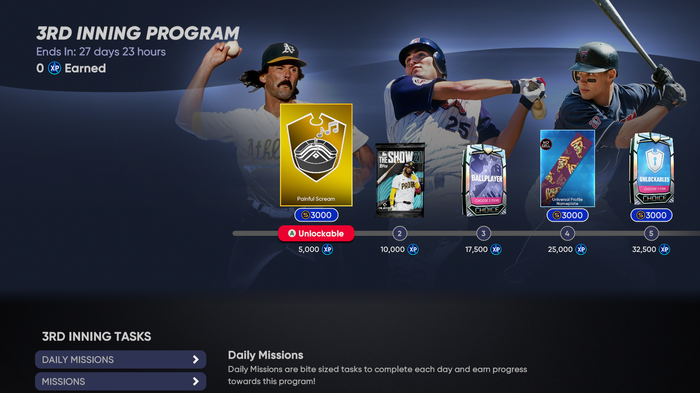 MLB The Show 21 3rd Inning Program Conquest Pizza