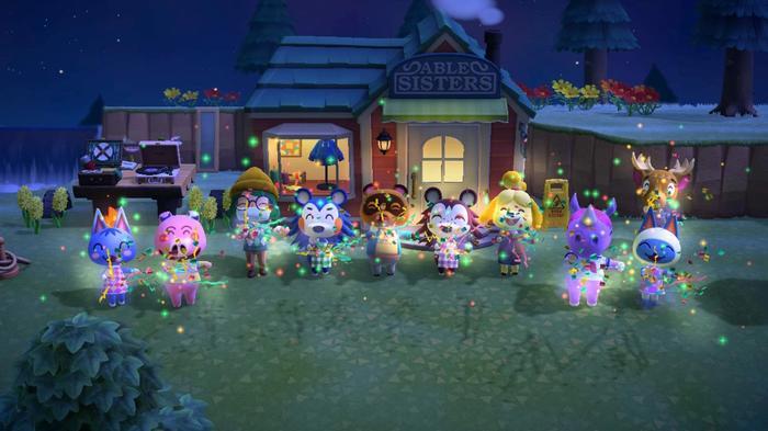 New Animal Crossing Update New Horizons Villagers Night