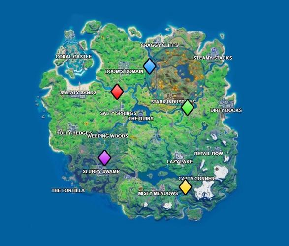 Fortnite Chapter 2 Colored Bridges Locations