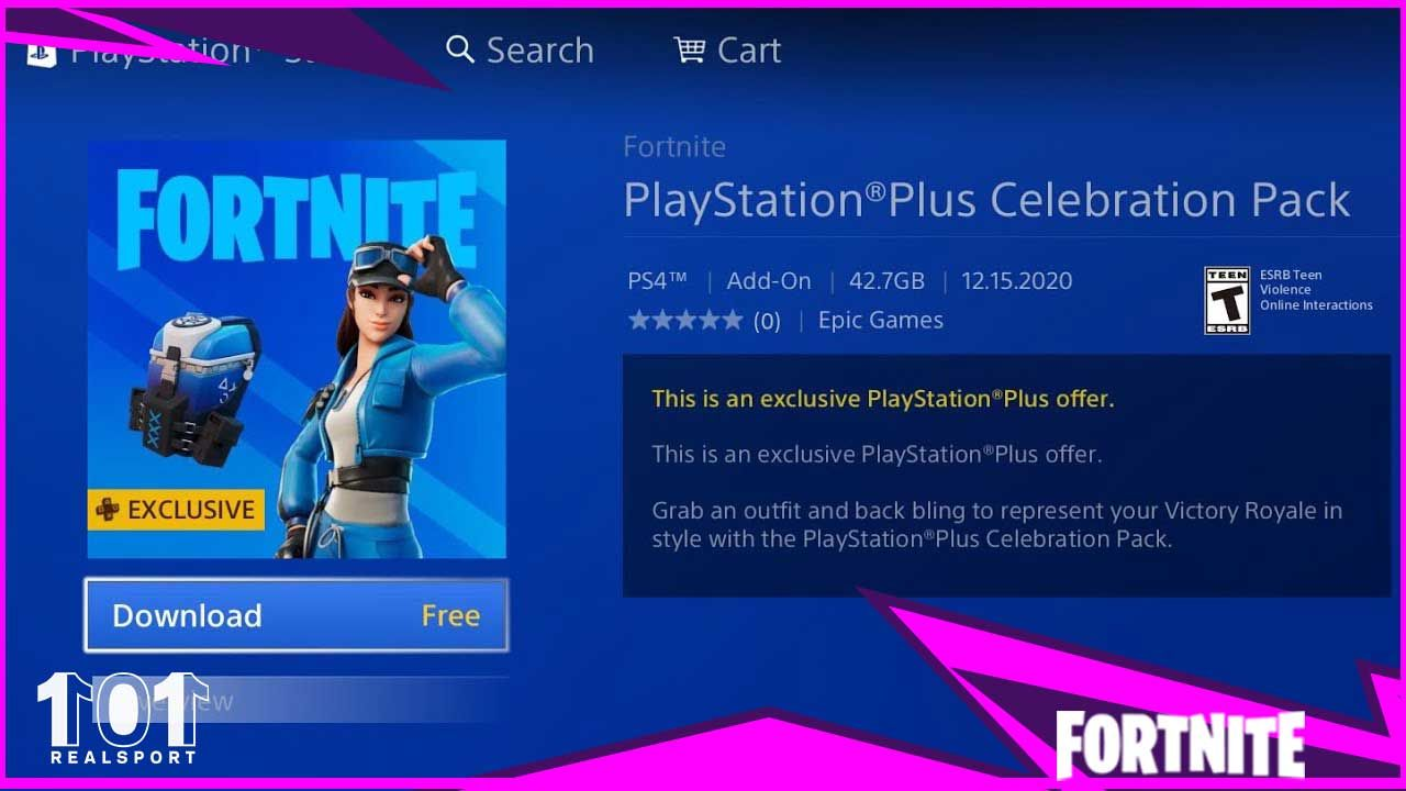 Fortnite Gets A New Ps Plus Exclusive Skin Pack Celebration Pack Cloud Striker Outfit