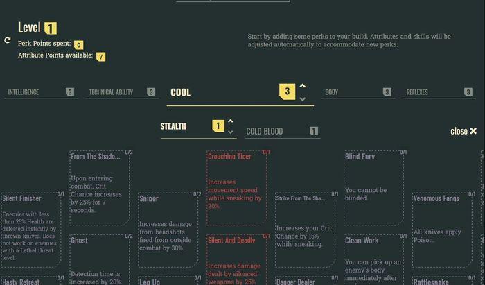 Cyberpunk 2077 Perks Attributes Overheat I Spy Hacking