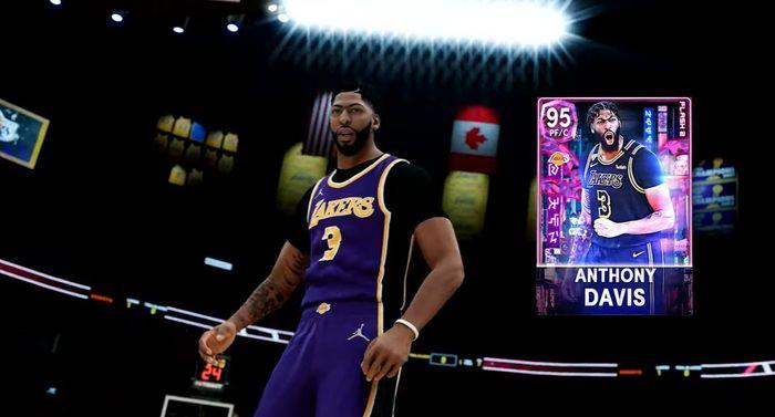 Anthony Davis card in MyTEAM on NBA 2K22