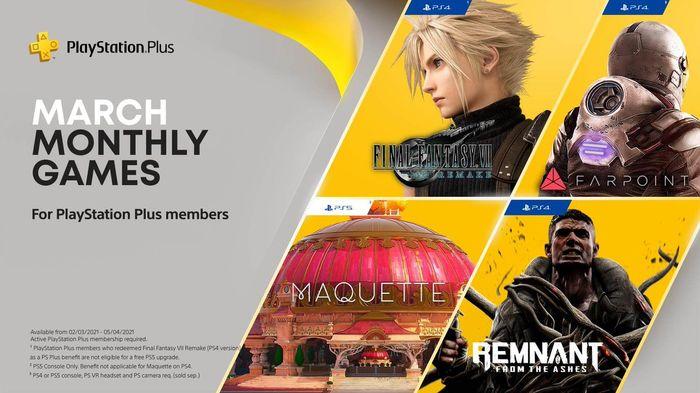 PS Plus April 2021 March 2021 Final Fantasy Maquette Remnant Far Point