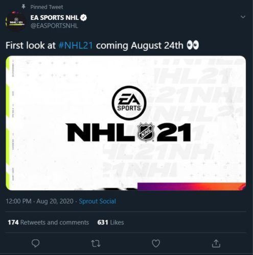 NHL 21 first look announcement tweet 1