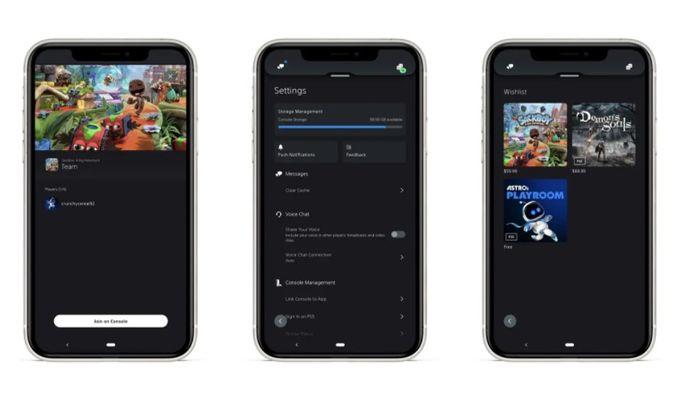 PS5 app April 2021
