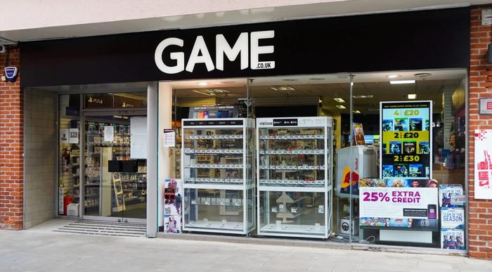 GAME store front UK