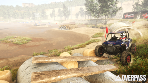 An ATV tackles man-made obstacles in Overpass