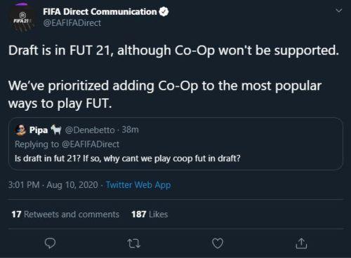 FIFA 21 co op draft FUT