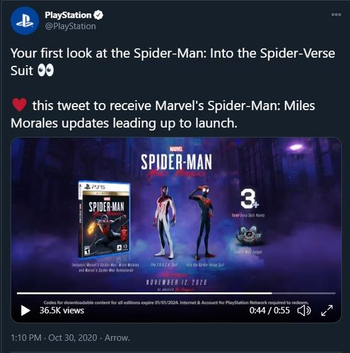 spider man into the spider verse twitter reveal