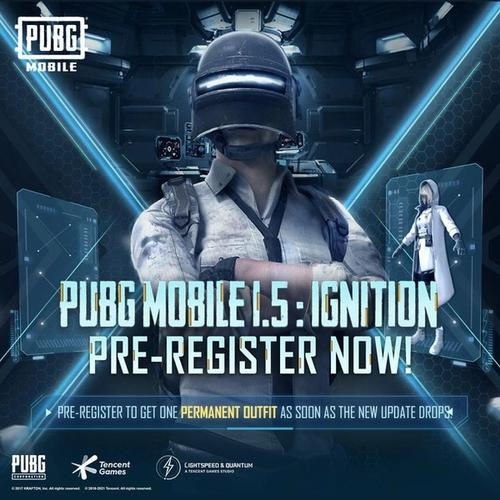 A poster for the PUBG Mobile 1.5 pre registering event was posted on the game's Twitter site