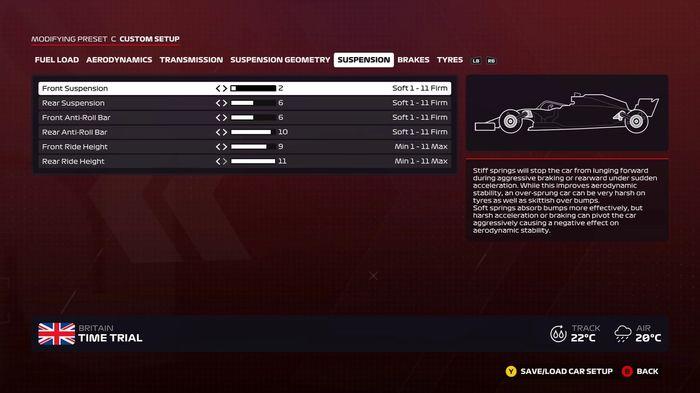 F1 2020 Britain wet suspension