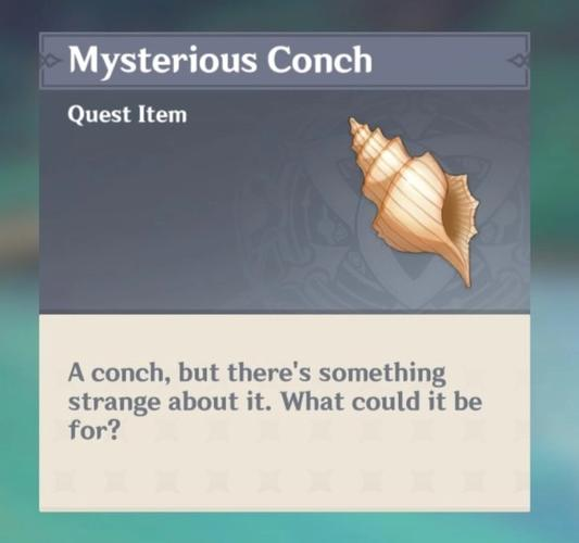 Image of a conch with the name Mysterious Conch in Genshin Impact