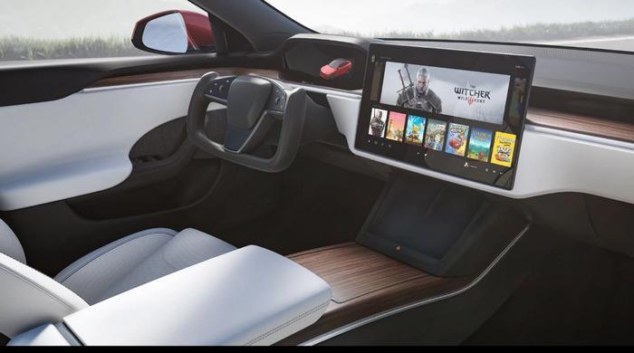Tesla Model S Video Games Cyberpunk 2077 Witcher Tesla Arcade