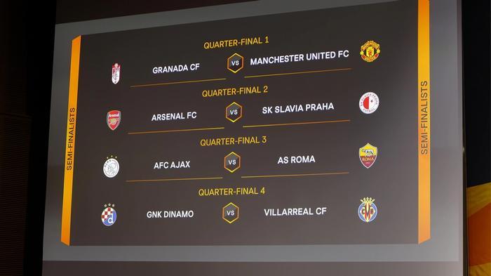 eufa europa league draw 2021 quarter-final