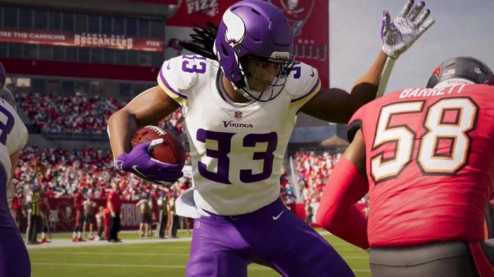 madden 21 gameplay footage pass rushing system ball carrier stick skills