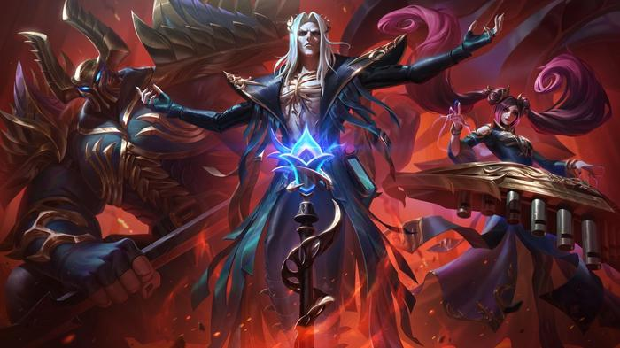League of Legends Pentakill Skins Sona Karthus Viego