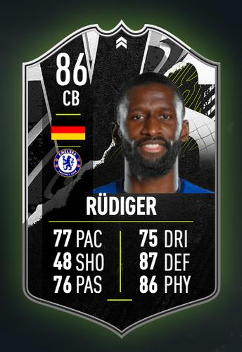 FIFA 21 FUT 21 Antonio Rudiger Card Image