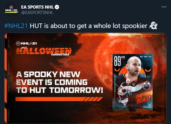 NHL 21 HUT Halloween Characters announcement