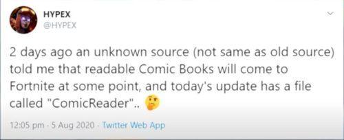 hypex comic books readable fortnite chapter 2 season 4