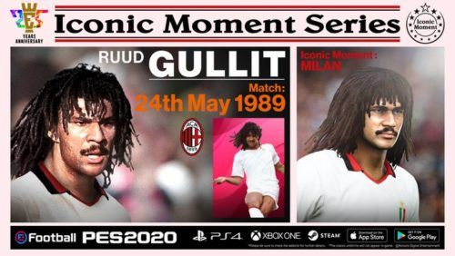 ruud gulllit iconic moment series pes 2020