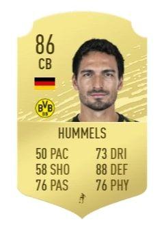 hummels fifa 21 prediction