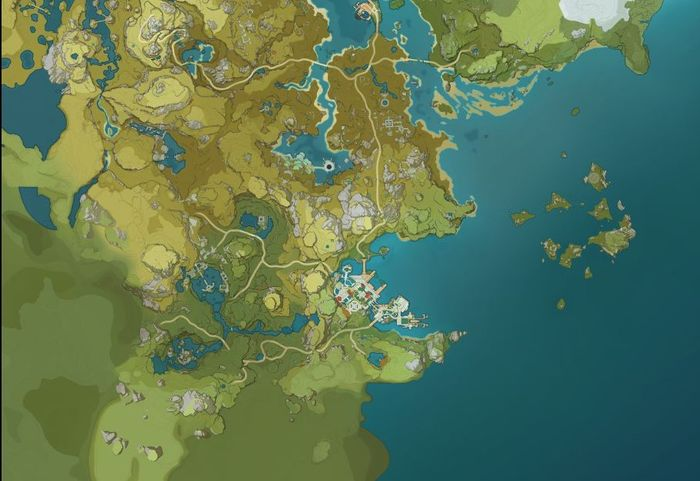 Genshin Impact South West Map