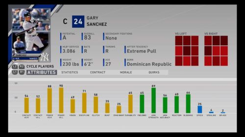Gary Sanchez MLB The Show 20 best catchers Franchise Mode March to October