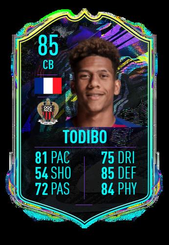 jean-clair todibo future stars fifa 21 concept card