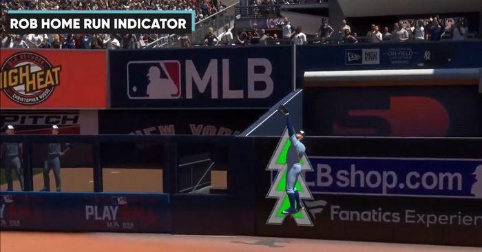 MLB The Show 21 rob home run fielding indicator