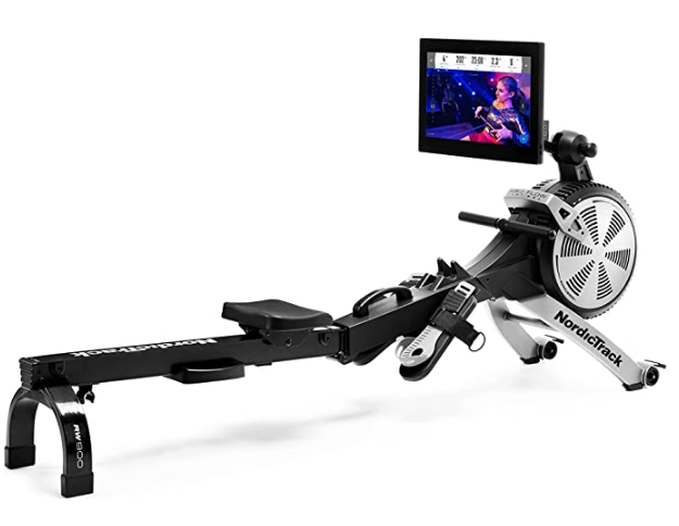 Best Rowing Machine 2021 NordicTrack product image of black and silver machine with HD screen