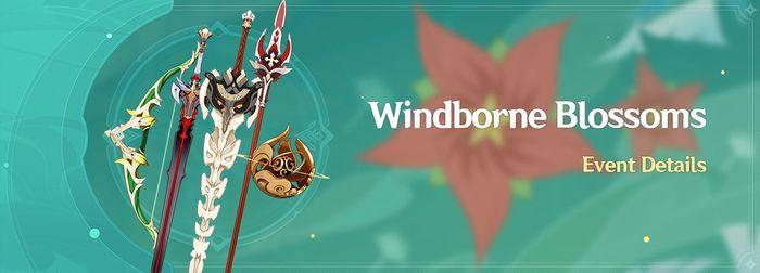 Genshin Impact Windborne Blossoms banner