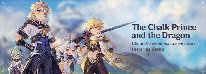 Genshin Impact The Chalk Prince and the Dragon promotional banner