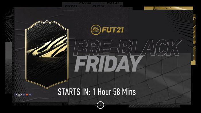 FIFA 21 Pre-Black Friday Loading Screen