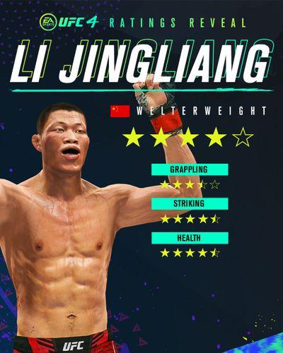 Li Jingliang's ratings card in UFC 4.