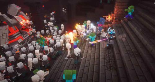 Minecraft Dungeons Battle scenes