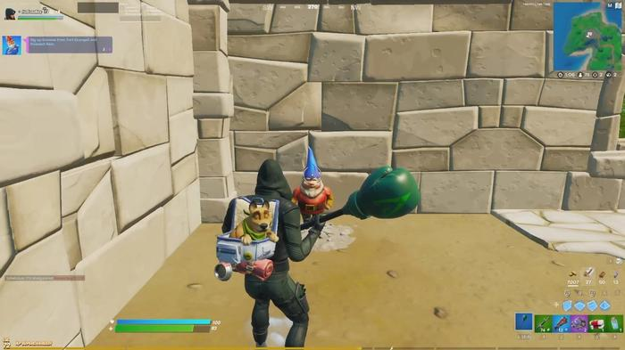 Fortnite Dig Up Gnomes In Fort Crumpet and Pleasant Park 2