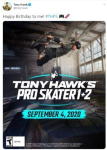 tony hawks pro skater 1 2 new game