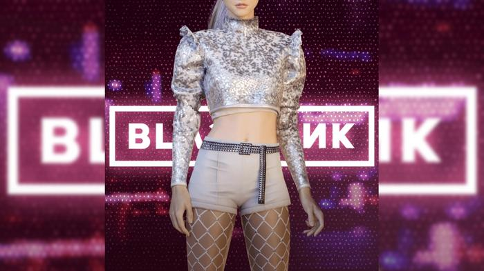 Image of Jennie from BLACKPINK wearing skin for PUBG