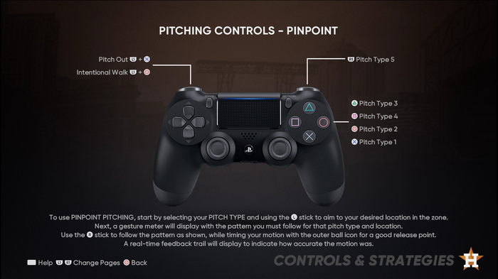 MLB The Show 21 Pitching Guide Controls Pinpoint