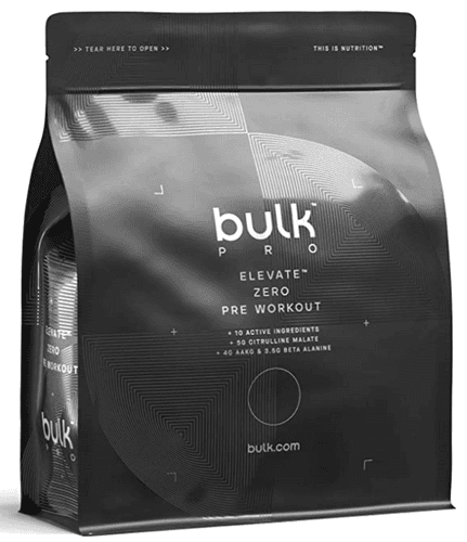 Best pre-workout Bulk product image of a black packaging pre-workout